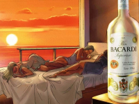 Bacardi morning party