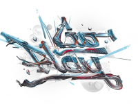Theo Aartsma illustration 3D typo 2