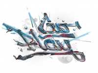 Theo Aartsma illustration 3D typo 60