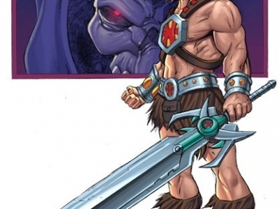 HE MAN SKETCH COLOURED by deemonproductions