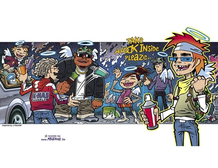 Gorillaz cartoon