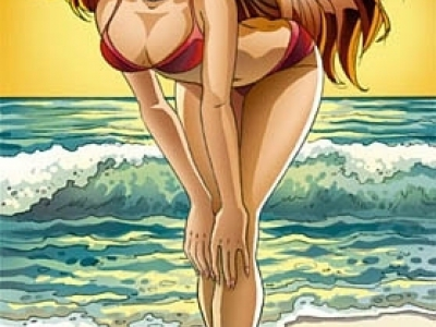 Manga beach girl