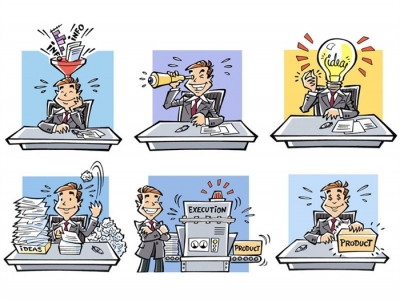 Office worker cartoon
