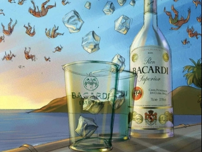 Bacardi flying people
