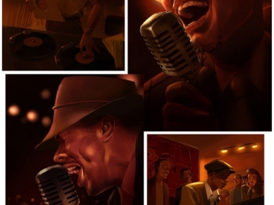 Blues jazz singer