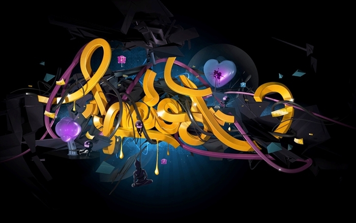 Theo Aartsma illustration 3D typo 51